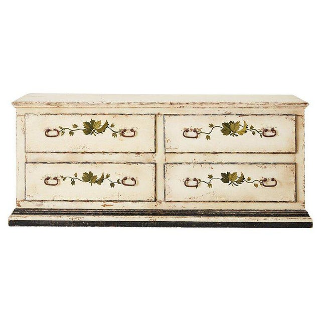 Country Italian Painted Four-Drawer Commode or Sideboard For Sale - Image 13 of 13