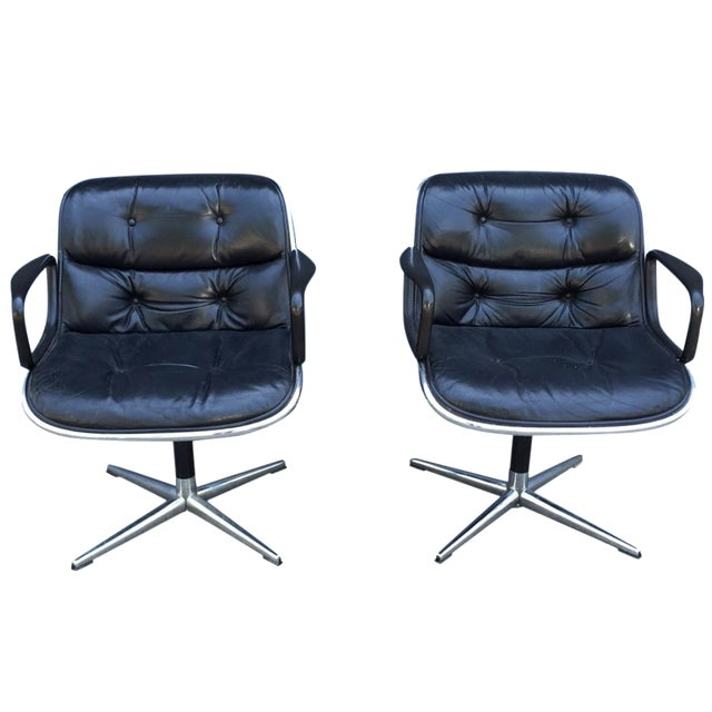 Lounge Chairs by Charles Pollock for Knoll - Pair - Image 1 of 10