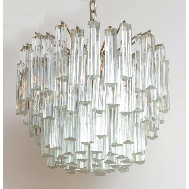 1960s Mid-Century Modern Lush Camer Glass Chandelier For Sale - Image 11 of 11