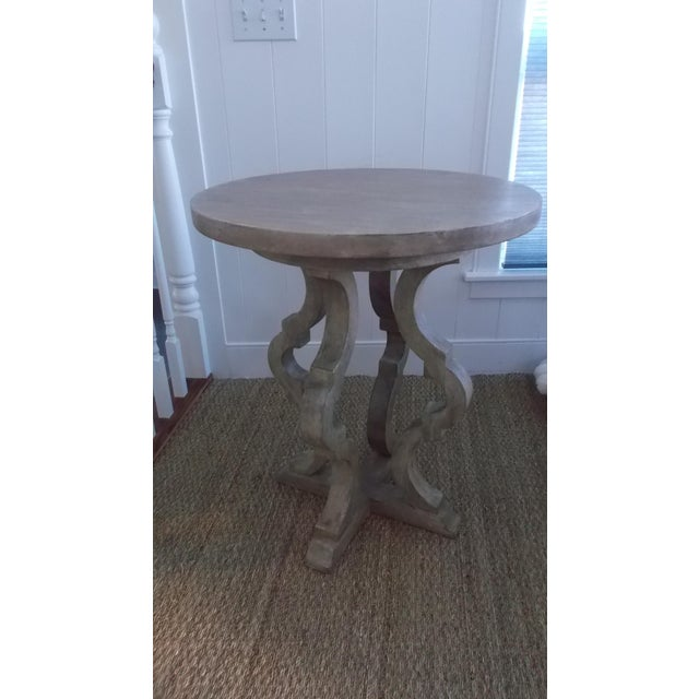 2000 - 2009 Italian Style Antique Finish Tall End Table For Sale - Image 5 of 5