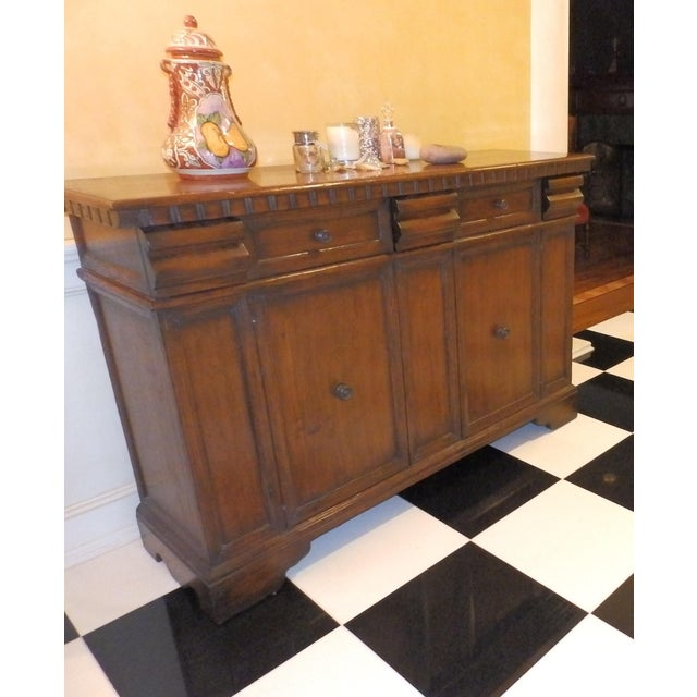 Italian 19th Century Spanish Colonial Solid Wood Sideboard For Sale - Image 3 of 7