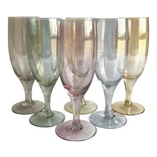 Multi-Color Cocktail Glasses, Set of 6