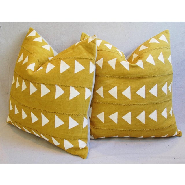 Boho Chic African Textile Pillows - A Pair - Image 8 of 10