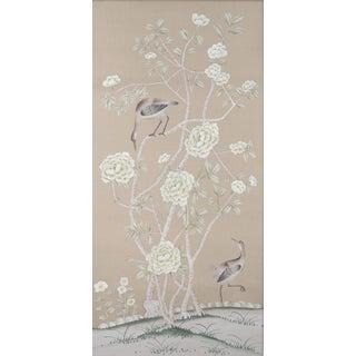 "Chinoiserie ""Donnington"" Diptych Painting on Silk by Simon Paul Scott for Jardins en Fleur - 2 Pieces Preview"