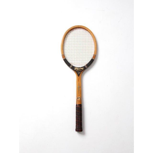 Vintage Spalding Tennis Racquet For Sale - Image 4 of 6