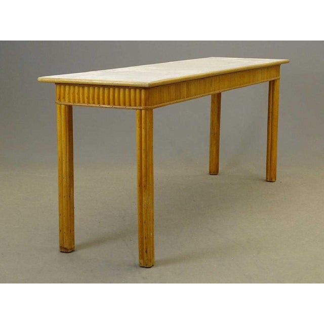20th Century Boho Chic Rattan Server or Console For Sale In Boston - Image 6 of 6