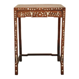 19th C. Side Table With Mother-Of-Pearl Inlay For Sale