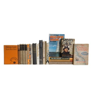 Sand and Sun Nautical Book Set, (S/20) For Sale