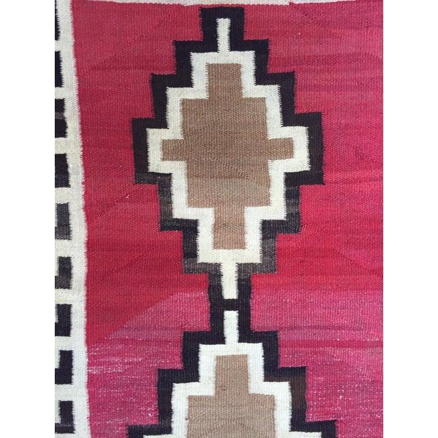 """Antique Navajo Rug - 2'7"""" X 4'4"""" - Image 4 of 7"""