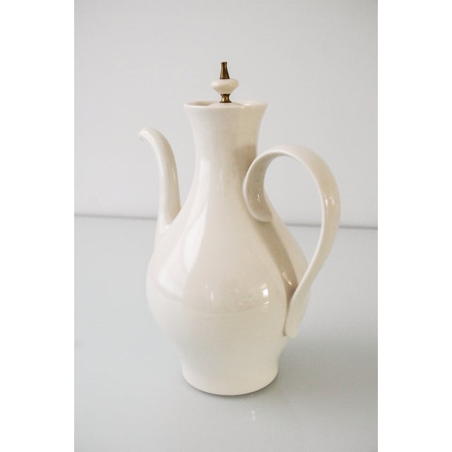 Mid-Century Modern Porcelain Coffee Pot For Sale In Detroit - Image 6 of 6