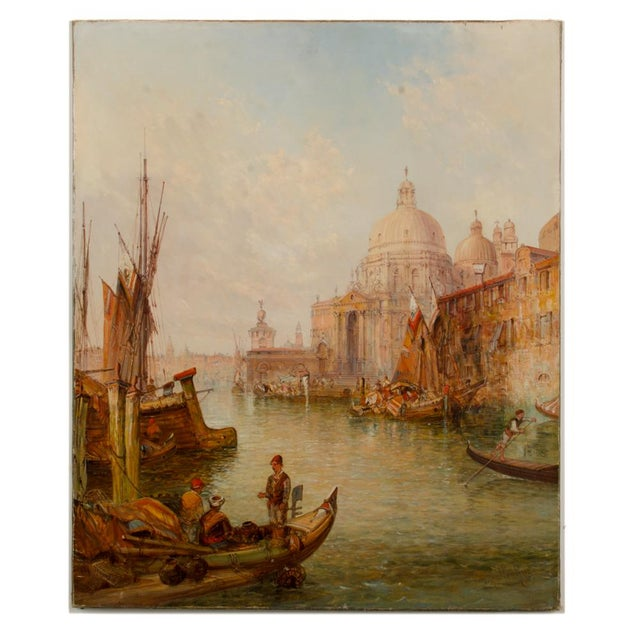 "19th Century ""Venice in July"" Cityscape Oil Painting by Alfred Pollentine For Sale - Image 12 of 12"