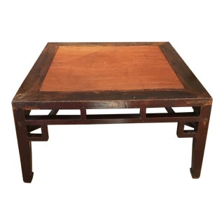 19th Century Chinese Ming Style Coffee Table For Sale