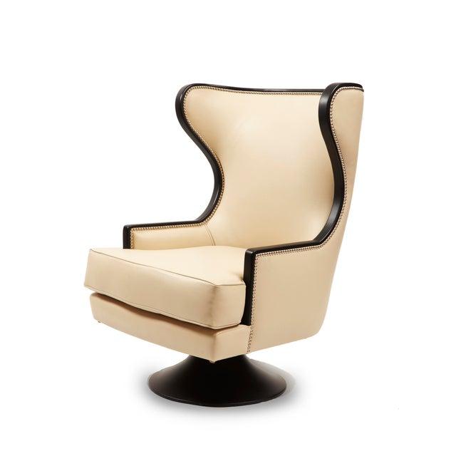 Erin V. Brackpool Wingback Swivel Chair For Sale In Los Angeles - Image 6 of 6