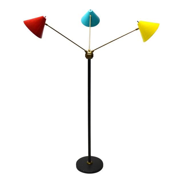 Italian Three-Arm Floor Lamp For Sale