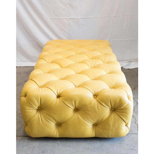 Barclay Butera Home Yellow Keaton Ottoman - Image 2 of 4