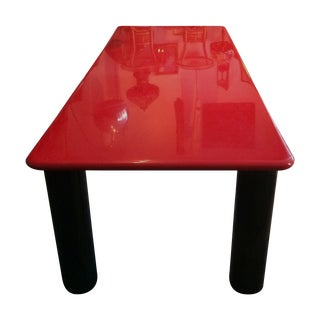 Vintage Italian Red Lacquer Table