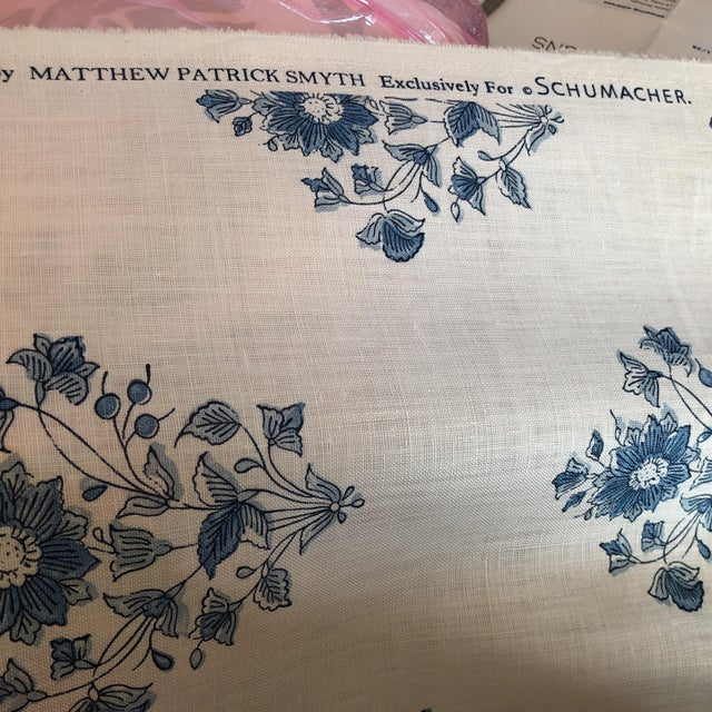 Schumacher Beatrice Bouquet Fabric For Sale In New York - Image 6 of 8