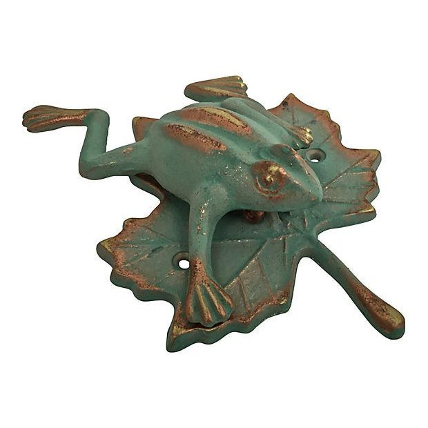 Green & Gold Frog Door Knocker - Image 5 of 7