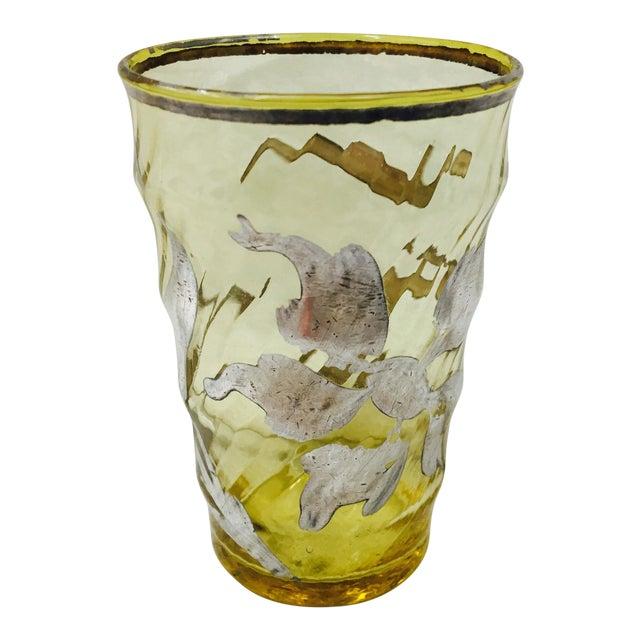 Antique Silver Overlay Bud Vase For Sale