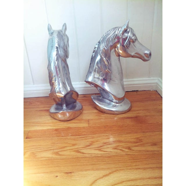 Single Chrome Horse Head For Sale - Image 5 of 6
