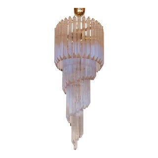 Vintage Mid Century Modern Murano Glass Chandelier For Sale