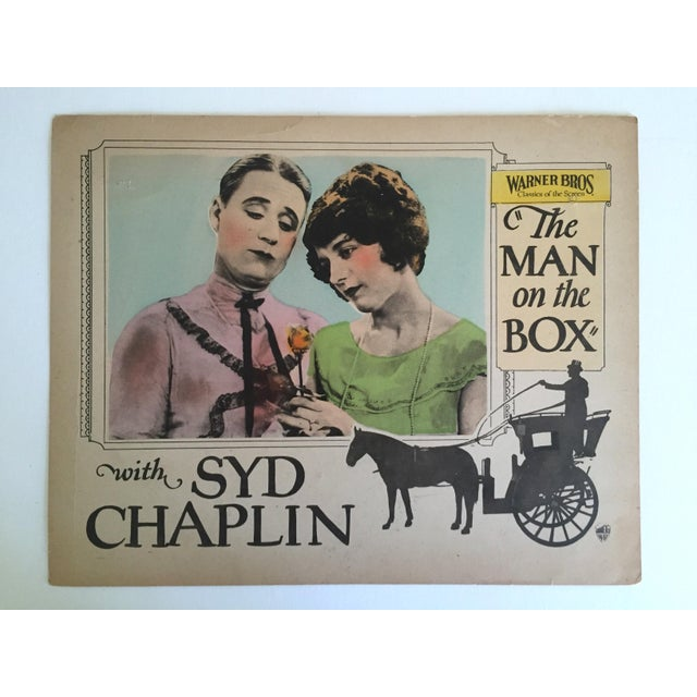 "Rare Vintage 1925 Lobby Card Print "" the Man on the Box "" Movie Memorabilia Poster For Sale - Image 11 of 11"