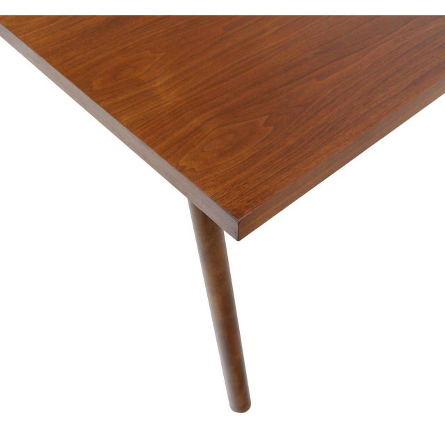 Early 20th Century Robsjohn Gibbings Walnut Extention Dining Table with Two Leaves For Sale - Image 5 of 7