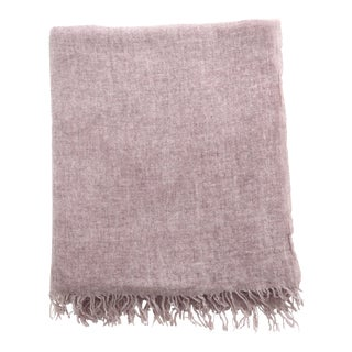 FirmaMenta Italian Mauve Pink Gauze Throw For Sale