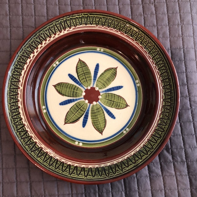 1960's Pottery Hanging Platter For Sale In New York - Image 6 of 6