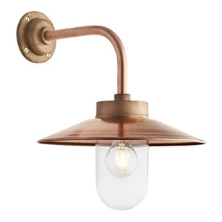 Tekna Quay 90° Wall Light with Copper Finish and Clear Glass For Sale