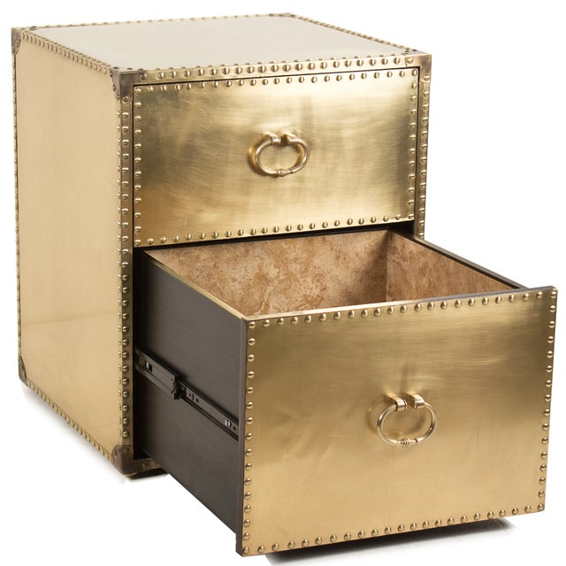 Sarried Ltd Brass Clad Side Table - Image 2 of 2