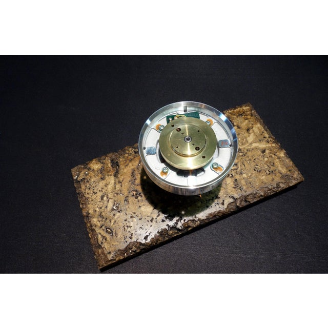 Americana Vintage 20th Century Video Tape Recorder Component Art Sculpture on Stone Base For Sale - Image 3 of 11