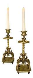 Image of Gothic Revival Candelabras