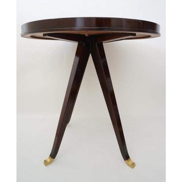 Vintage Lucien Rollin for Switzer Center Table Art Deco Revival For Sale - Image 10 of 12