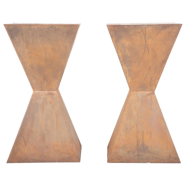 Brancusi Style Steel Side Tables - A Pair For Sale - Image 13 of 13