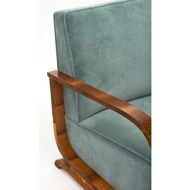 Textile Art Deco Austrian Armchairs For Sale - Image 7 of 11