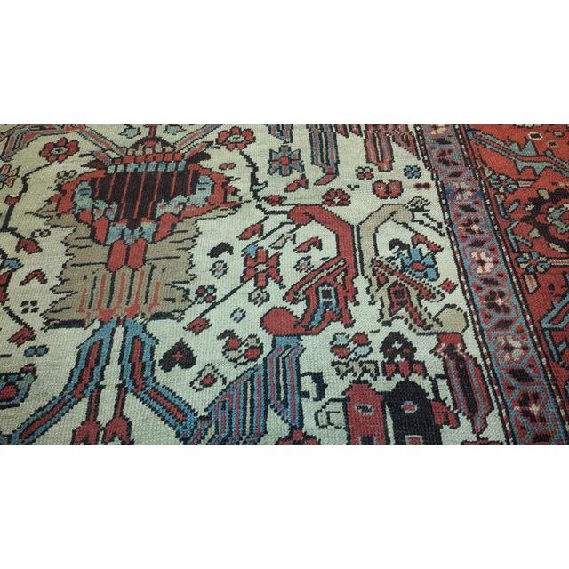 Islamic Antique Persian Bakshaish Rug For Sale - Image 3 of 4