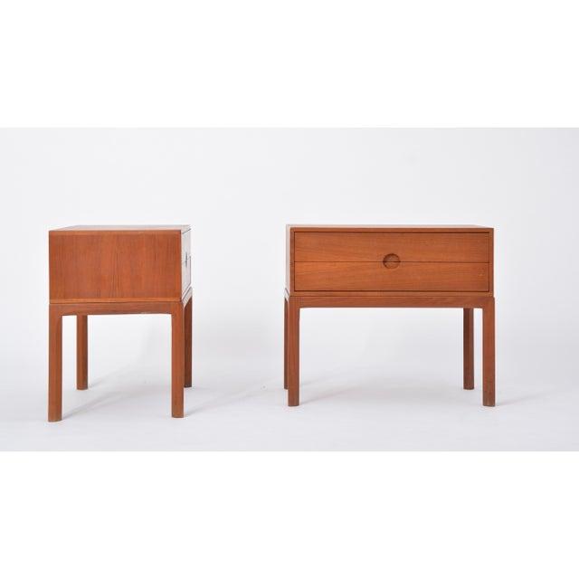 Teak Nightstands by Aksel Kjersgaard for Odder, 1955, Set of Two For Sale - Image 10 of 12
