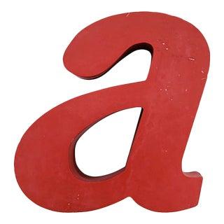 Vintage Red Sign Letter A For Sale