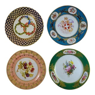 Tin Sevres Plates - Set of 4 For Sale