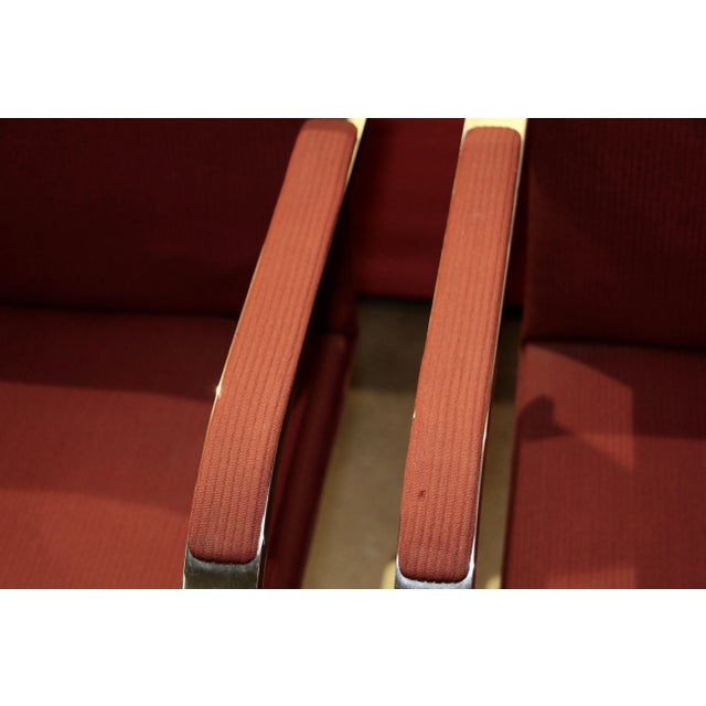 Bauhaus Knoll Mies Van Der Rohe Brno Chairs Flat Bar Dated 1980 - a Pair For Sale - Image 3 of 10