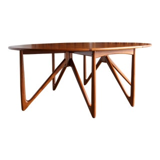 Mid Century Modern Niels Kofoed Gate Leg Dining Table For Sale