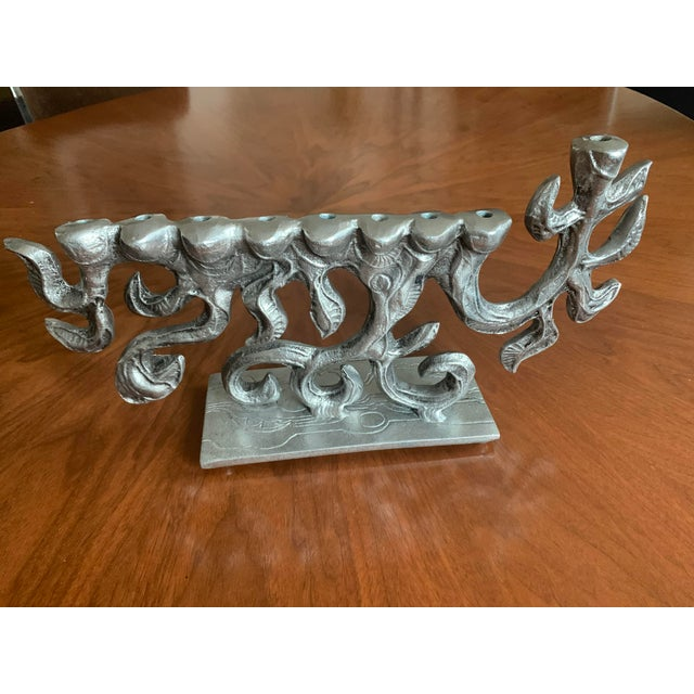 Brutalist 1970s Menorah by Donald Drumm For Sale - Image 11 of 11