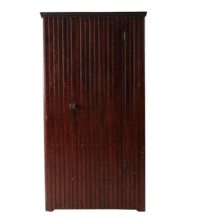 Antique Beadboard Armoire Cabinet For Sale