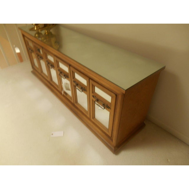 Mid-Century Modern Walnut & Mirror Credenza For Sale - Image 4 of 7