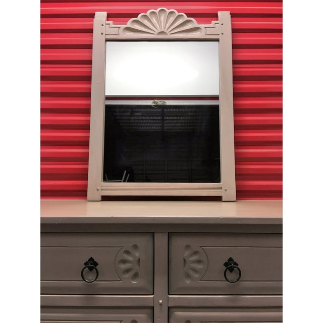 Southwest Style Solid Wood Dresser & Mirror - Image 4 of 9