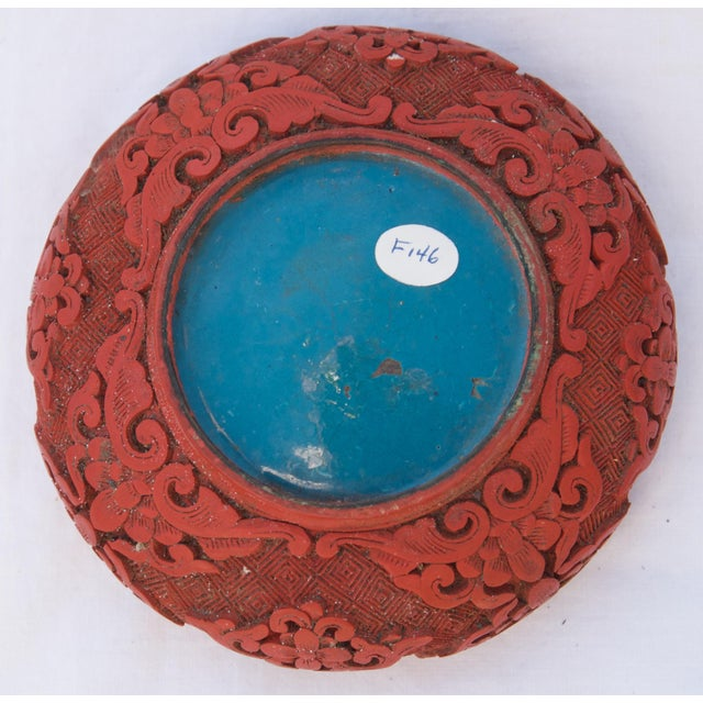 Red Antique Asian Cinnabar Bowl For Sale - Image 8 of 11