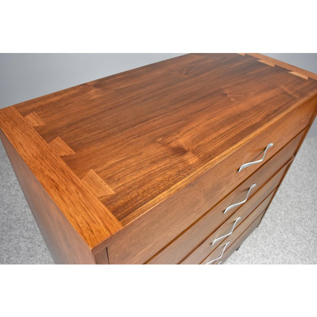 Mid-Century Modern Highboy Chest by Lane Acclaim For Sale - Image 10 of 13