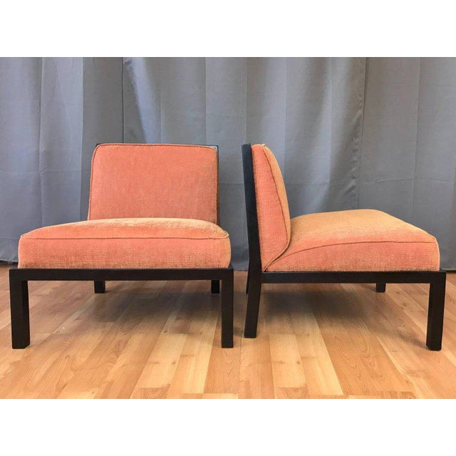 Michael Taylor for Baker Far East Collection Slipper Chairs - A Pair For Sale In San Francisco - Image 6 of 13