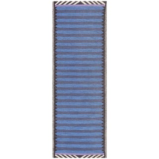 Vintage Scandinavian Swedish Runner Rug - 3′ × 8′ For Sale